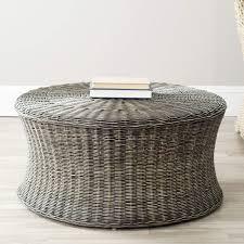 com safavieh home collection ruxton ottoman dark brown pertaining to round wicker design 9