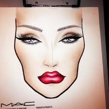 mac face chart y vy makeup look