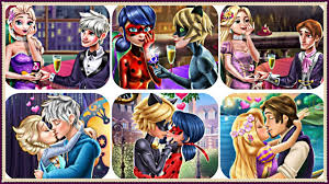 ladybug & cat noir, elsa & jack frost, rapunzel & flynn wedding Rapunzel Wedding Kiss Games ladybug & cat noir, elsa & jack frost, rapunzel & flynn wedding proposal & kissing games for kids Rapunzel and Hiccup Kiss