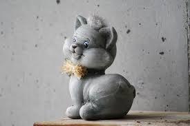 figure cat deco kitten garden sit