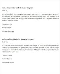 Acknowledgement Of Letter Received Receipt Acknowledgement Letter Templates 10 Free Word