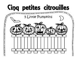 five little pumpkins in french to ilrate