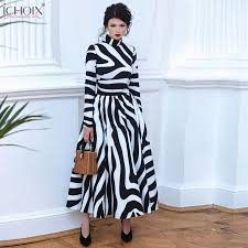 2019 <b>Autumn</b> Elegant Long Dress Women Winter Striped Vintage ...