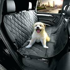 pet seat cover auto back rear seat barrier quilted waterproof hammock style petego