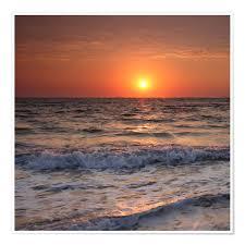Filtergrafia Sonnenuntergang Am Meer Poster Online Bestellen