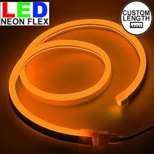 Cut To Length Led Lights Orange Led Neon Flex Custom Cut 120v