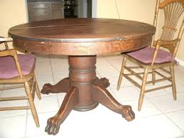 antique round table with claw feet value of antique oak tiger claw dining table antique drop