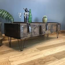Vintage trunk coffee table Antique Upcycled Vintage Wooden Trunk Coffee Table Cncredrlouclub Round And Industrial Coffee Tables Notonthehighstreetcom