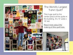 Quilts Hanging in the Too Cool T-shirt Quilt Shop in Charlotte & 17. 17 The World's Largest T-shirt Quilt? Adamdwight.com