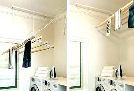 wall mounted clothes drying rack laundry nz clothe