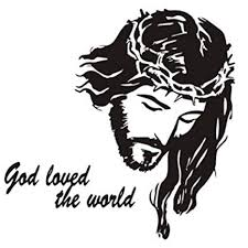 Basde <b>Wall Stickers</b>, <b>Creative</b> Avatar Christian Painting <b>Jesus</b> ...