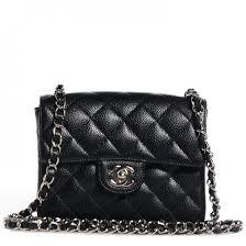 CHANEL Caviar Quilted Mini Square Flap Bag Black 67540 & CHANEL Caviar Quilted Mini Square Flap Bag Black Adamdwight.com
