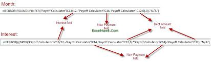 Credit Card Loan Payoff Calculator Excel Template Tutorial