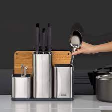 Bộ dụng cụ đa năng nhà bếp vỏ inox kèm thớt thái ( thương hiệu Joseph  Joseph 95026 )