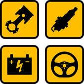auto parts clip art. Simple Art Vector Car Part Symbols Intended Auto Parts Clip Art