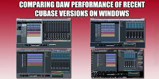 Cubase Version Comparison Chart Ultimate Outsider Comparing Daw Performance Of Recent
