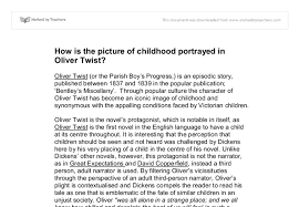 how is the picture of childhood portrayed in oliver twist gcse  document image preview