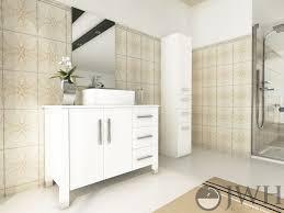 Single Vessel Sink Bathroom Vanity 395 Crater Single Vessel Sink Vanity Stone Top White