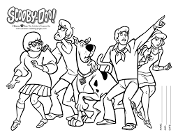 Small Picture Inspirational Scooby Doo Coloring Pages 19 For Your Coloring Print