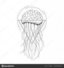 Vector Graphical Jellyfish Design векторное изображение