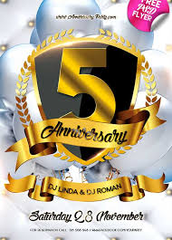 anniversary poster template download anniversary party free psd flyer template