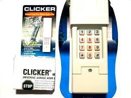Clicker Garage Door Opener Keypad Decorating Clicker Garage Door