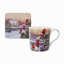 dels about macneil robins fine china mug and coaster set festive gifts lp68051