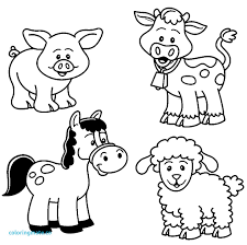 Baby Farm Animal Coloring Page Animals Pages Beautiful Cute Of