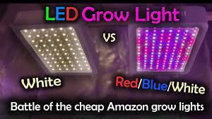 White Led Grow Light White Led Vs Red Blue White Led Grow Test Amazon Lights Intro