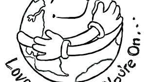 Coloring Pages Of Earth Earth Coloring Pages Free Printable Earth
