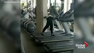 woman trashes gym equipment at good life fitness in toronto s liberty village watch news videos