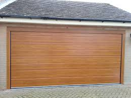 new insulated garage door golden oak grantham