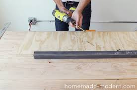 homemade modern diy ep64 conference table step 11