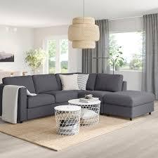 end nared medium grey corner sofa