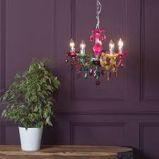 litecraft multi colour 5 light marie therese hanging ceiling pendant chandelier