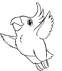 Small Picture Parrot Bird Coloring Pages Bird Coloring Page Parrot Free Two