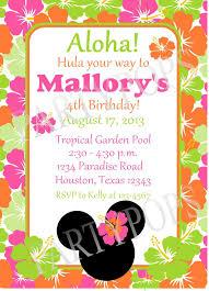 Hawaiian Pool Party Invitations Hawaiian Pool Party Invitations 17 Best Layla And Amelia S Minnie