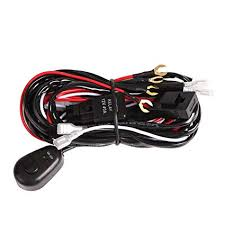 amazon com auxbeam led light bar wiring harness kit with fuse relay auxbeam wiring harness auxbeam led light bar wiring harness kit with fuse relay on off switch for led