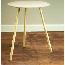 antique 3 legged wood half moon table three correlabs