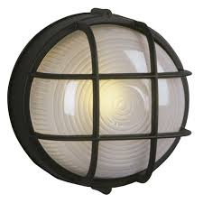 Marine Bulkhead Round Outdoor Wall  Ceiling Light Inches - Exterior bulkhead lights