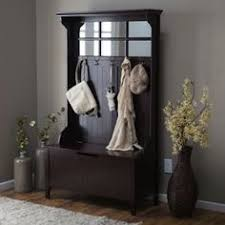 Hallway Storage Bench With Coat Rack Belham Living Richland Hall Tree Driftwood Gray Hall Trees At 5