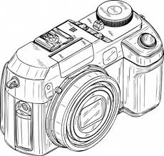 Small Picture Digital Camera in Photography Coloring Page Digital Camera in