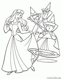 Coloriage Princesse Aurora Et Fees Aurore Coloriage Princess
