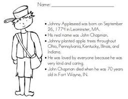 Small Picture FREE Coloring Page for JohnnyAppleseed school ideas Pinterest