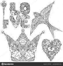 татуировки для влюбленных дизайн день святого валентина набор