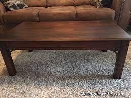 refinishing furniture coffee table