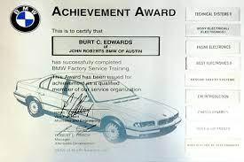 Certification European Car Service Experts Bmw Mercedes Benz
