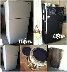 diy chalkboard painting a fridge diy home decor projects pinterest