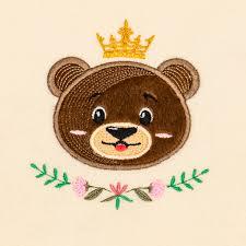 Teddy Bear Applique Designs Prince Teddy Bear Applique Embroidery Design 5 Sizes 6