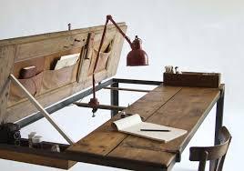 manoteca reinvents aged wood doors as beautiful desks